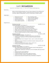 Resume Examples For Warehouse Custom Warehouse Specialist Resume Experience Download Job R Mmventuresco