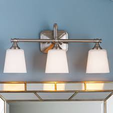 corner lighting. Cut Corner Bath Light - 3 Satin_nickel Lighting