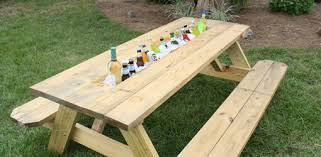 How To Make A Picnic Table Drink Trough  Todayu0027s HomeownerHow To Make Picnic Bench