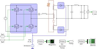 Dc Dc Converter Design Examples Llc Variable Frequency Resonant Converter Plexim