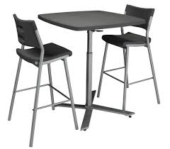 Plastic Table Chair Set Cafe Time Plastic Table Bar Stool By National Public Seating