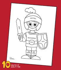 You have 45 categories (headquarters / hq) and 1000s of coloring sheets to color in. Armor Of God Coloring Page 10 Minutes Of Quality Time