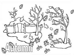 Small Picture Autumn Season with Autumn Leaf Coloring Page NetArt