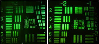 Micron To Mm Chart Air Force Test Chart Imaged A At The Hologram Plane And B