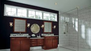 Bathroom walk in shower ideas Master Dark Stained Bathroom Vanity With Glass Walkin Shower Angies List Shower Design Ideas For Bathroom Remodel Angies List