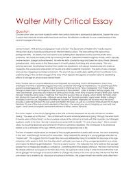 mitty essay walter mitty essay