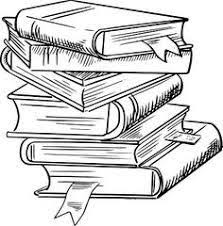 image result for pile of books drawing
