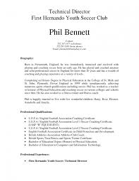 Soccer Coach Resume It Manager Resume Examples