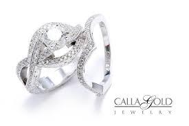 platinum wedding set with diamonds