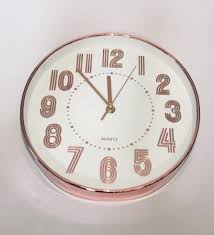 8 circular rose gold wall clock