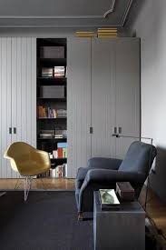 v modern furniture. tongue and groove fitted storage units with v doors grey interior mid century modern furniture