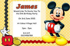 mickey mouse party invitation details about 10 personalised mickey mouse party invitations or thank you cards