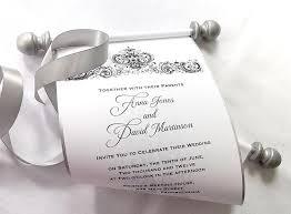 Wedding Scroll Invitations Wedding Scroll Invitations With Best