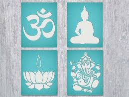 this item is unavailable on om symbol wall art with yoga om wall art set four printable files the om symbol buddha