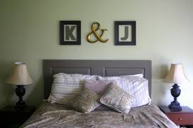 bedroom: Unique Word On Frame Right For Captivate Easy Diy Headboards With  Twin Lighting On
