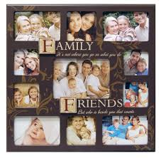Amazon.com - Haven Family/friends Sentiment Stamp Collage Frame - Family  And Friends Picture Frame