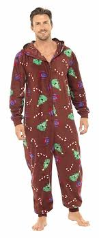Brand New Ladies Christmas Xmas Hooded Onesie Sleepsuit Pyjamas ...