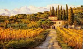 tuscany vineyard painting