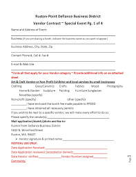 Event Vendor Contract Template Vendor Contracts Besikeighty24co 7