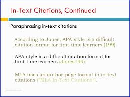 Apa Style For Powerpoint 36 Fabuleux Photograpique Of Apa In Text Citation First Time