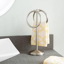 standing towel rack brushed nickel. Bathroom Interior Counter Top Towel Ring Brushed Nickel Standing Hand Holder F Free Rack