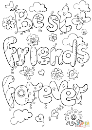 Small Picture Best Friends Forever coloring page Free Printable Coloring Pages
