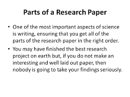 writing a research paper ppt video online  parts of a research paper