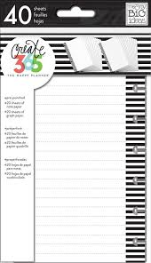 Me And My Big Ideas The Happy Planner Note Graph Paper Black And White Stripes Mini