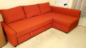 ikea red couch bed sofa bed orange 3 pillows orange sofa double bed and 3 pillows ikea red couch bed