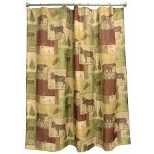 cabin shower curtains lake themed curtain hooks