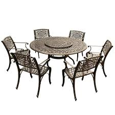 with lazy susan and 6 chairs