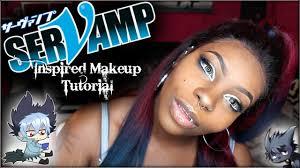 anime inspired makeup tutorial serv black anime cosplay
