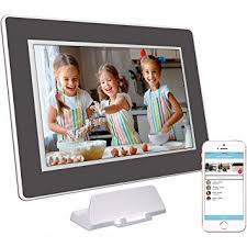 photospring 32gb 10 inch wifi cloud digital picture frame battery touch