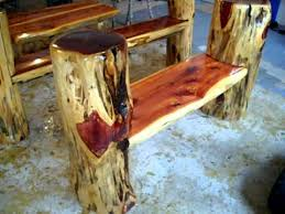 making rustic furniture. Rustic Log Benches! Making Frontier Furniture In Backyard. T