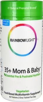 Rainbow Light <b>35</b>+ <b>Mom</b> and <b>Baby</b> Pre & Postnatal Care -- 60 Tablets