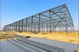 single slope galvanized coating light steel truss frame sturcture