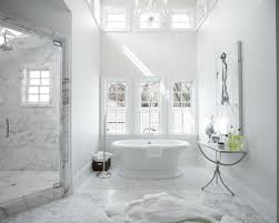 White Marble Bathroom Modern On Bathroom Within Marble Tiles 4