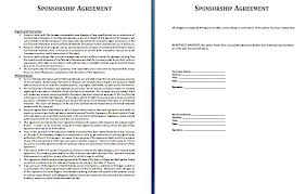 sponsorship agreement sponsorship contract template