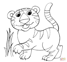 Leopard Coloring Page Within Baby Tiger Pages Coloring Pages For