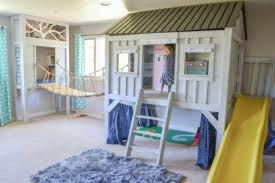 The Cabin Playhouse and slide
