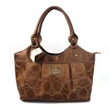Coach Legacy Signature Medium Coffee Satchels BQD