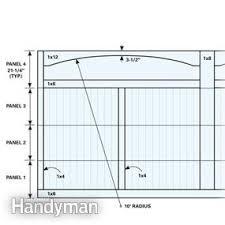 transfer the garage door design from graph paper to the door panels