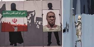 Taliban paint over George Floyd mural ...