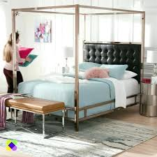Chrome Canopy Bed Upholstered Canopy Bed Chrome Canopy Bed King ...