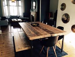 Dining Table Co Industrial Mill Style Reclaimed Wood Dining Table And Bench Www