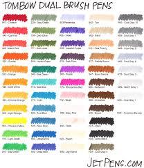 Tombow Pens Colour Chart