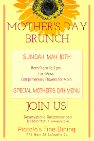 Mother S Day Menu Template Mothers Day Brunch Template Postermywall