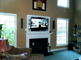 mount tv on brick hanging over fireplace mounting