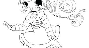 Coloring Page People Anime Pages Printable Of Cute Free For Kids