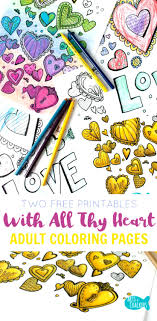 With All Thy Heart Coloring Pages Samples From Lets Color Together